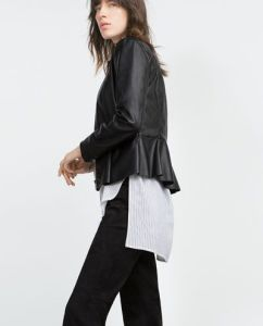 (similar style) http://www.zara.com/us/en/woman/outerwear/jackets/peplum-leather-effect-jacket-c798508p3275516.html