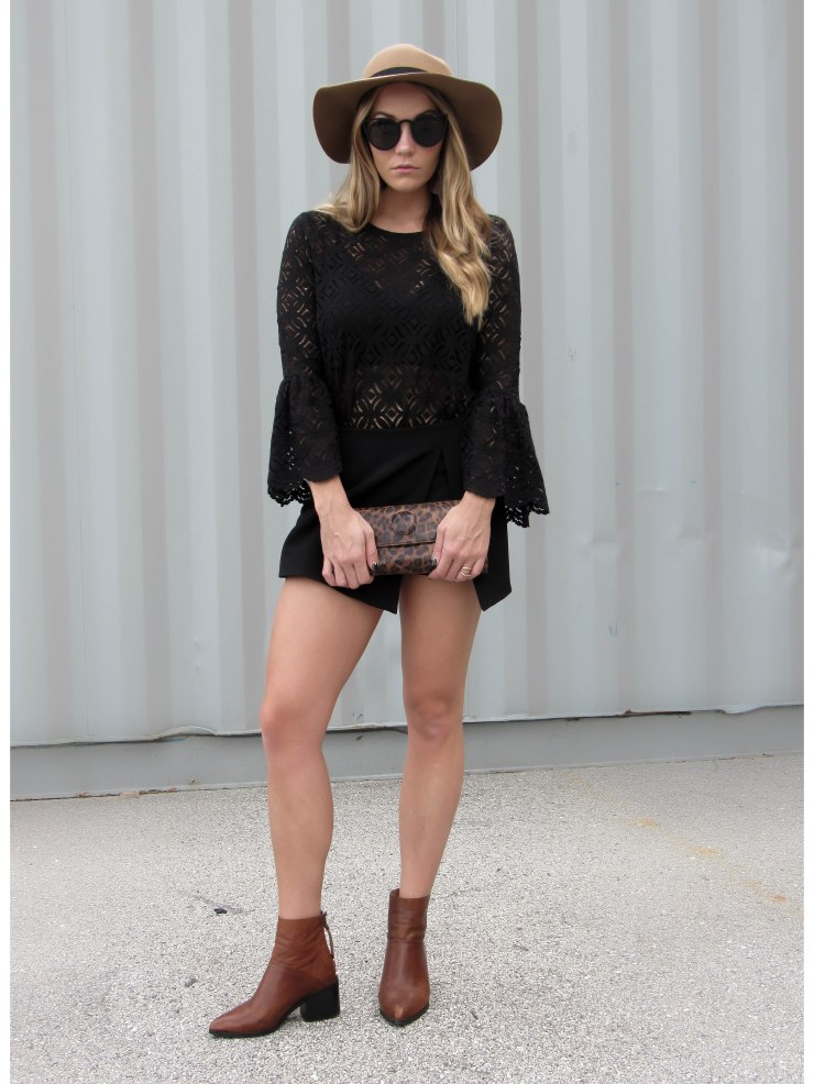 hm_black_lace_bell_sleeve_top_forever21_hat_pinterest_outfit_blog_style