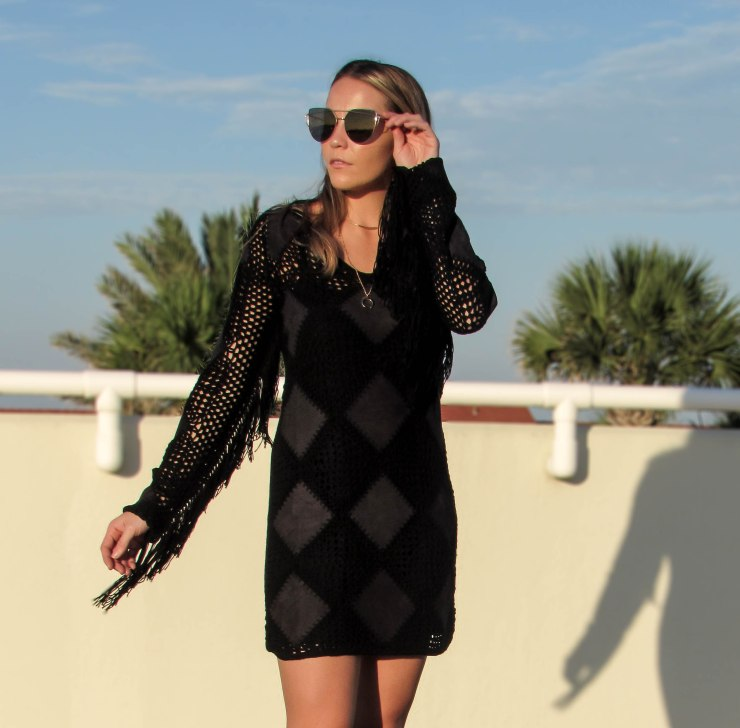 missguided_summer_faux_suede_tassel_crochet_mini_dress_black_pinterest_blog_outfit