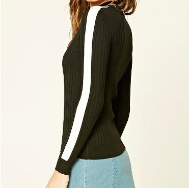 forever21_contrast_trimmed_knit_top_outfit_pinterest