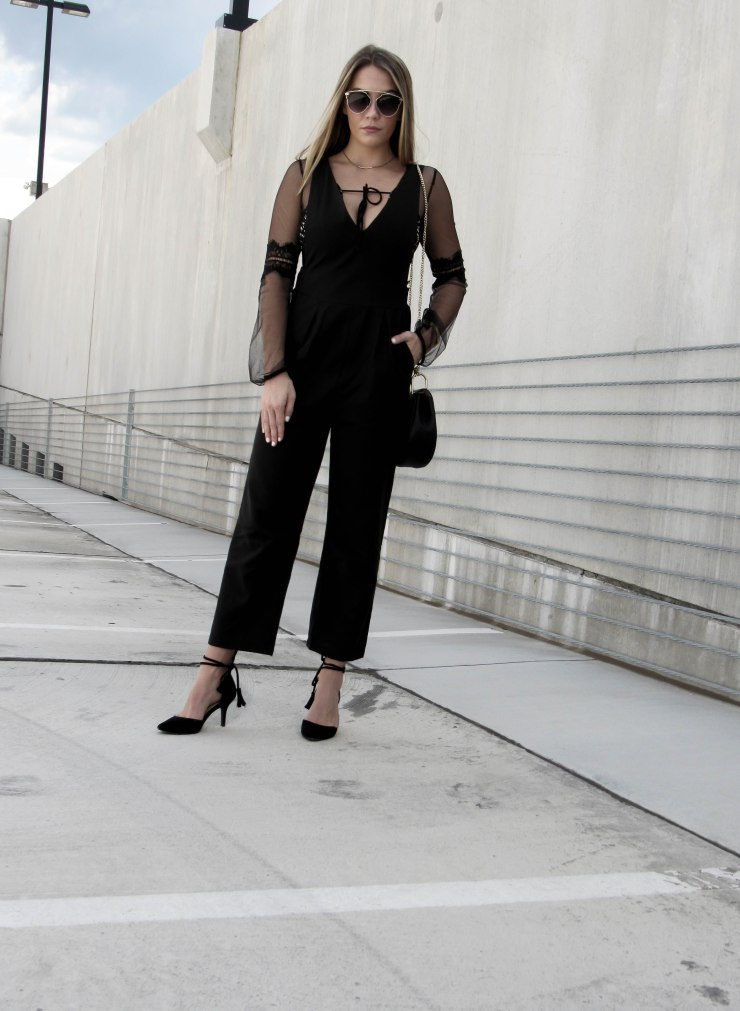 romwe_black_deep_v_neck_jumpsuit_outfit_pinterest_fall_fashion_look_chinese_laundry_black_tassel_heels_ashley_paul