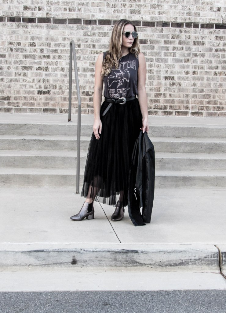 shein_black_mesh_pleated_elastic_waist_skirt_outfit_pinterest_blog_lovin_zerouv_mirror_sunglasses
