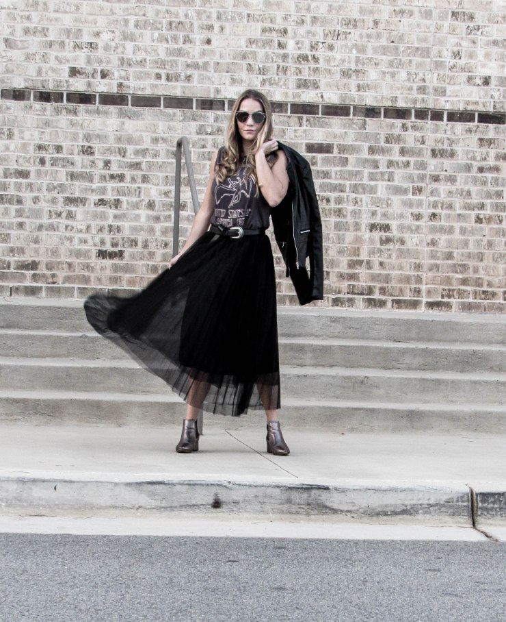shein_black_mesh_pleated_skirt_outfit_pinterest_blog_lovin_zerouv_mirror_lens_sunglasses