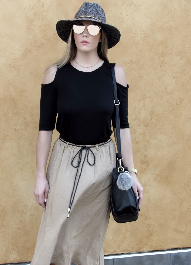 forever21_midi_skirt_cut_out_shoulder_top_outfit_pinterest_bloglovin_lookbook_fall_style_blog