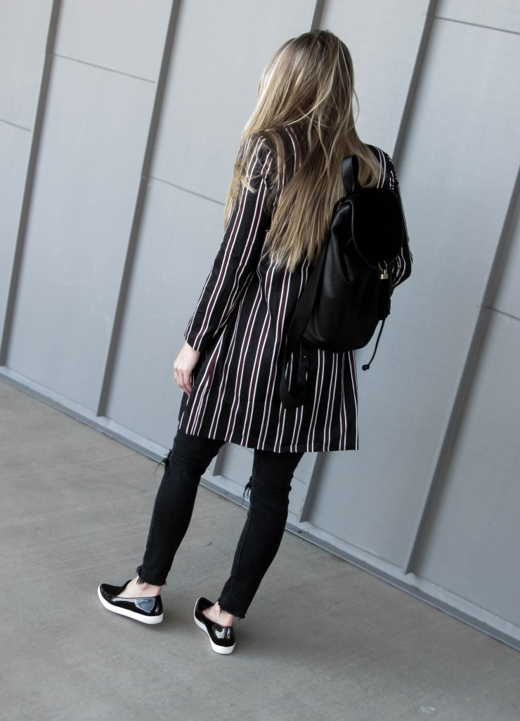 shein_multicolor_striped_lapel_pocket_long_blazer_pinterest