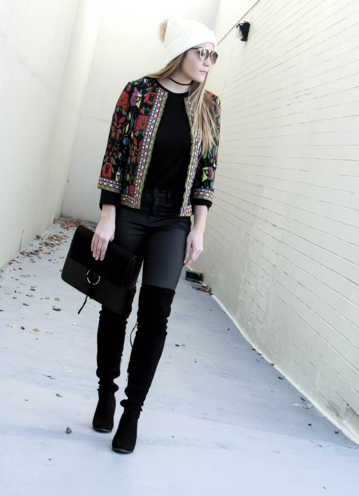 style_we_black-abstract-3-4-sleeve-polyester-embroidered-cropped-jacket