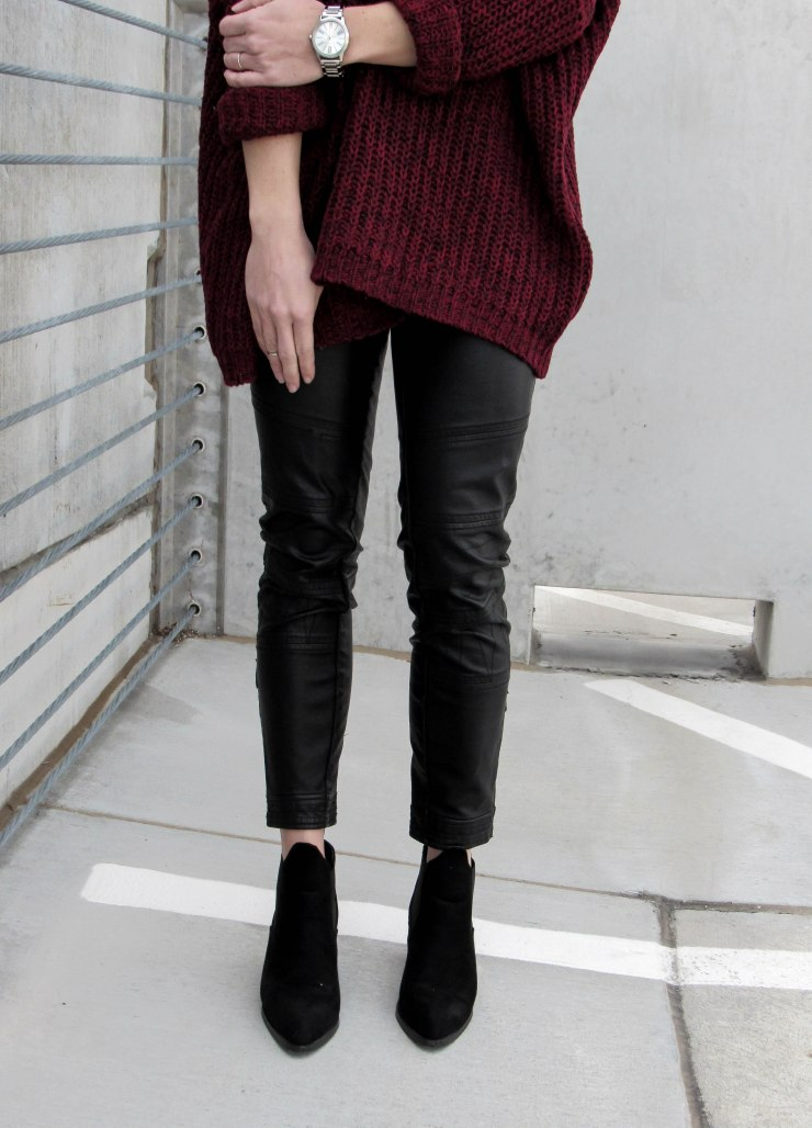 burgundy-marled-knit-drop-shoulder-sweater-shein_urban_outfitters_leather_pants