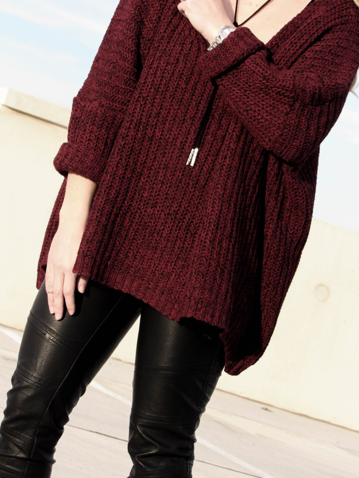 burgundy_shein_oversized_sweater