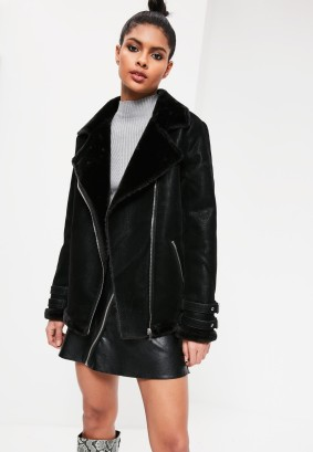 missguided_faux_fur_lined_aviator_jacket_black