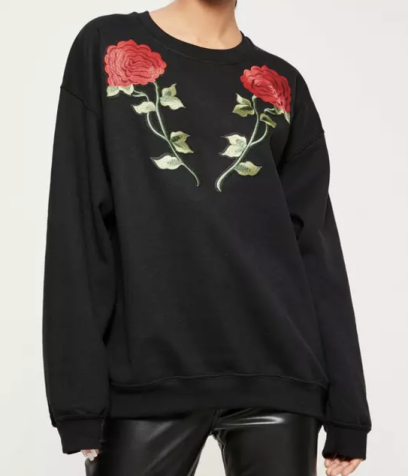 black-applique-rose-detail-sweatshirt