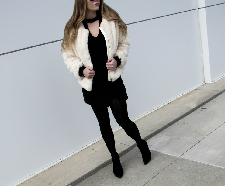 shein_apricot_collarless_zip_up_faux_fur_coat_