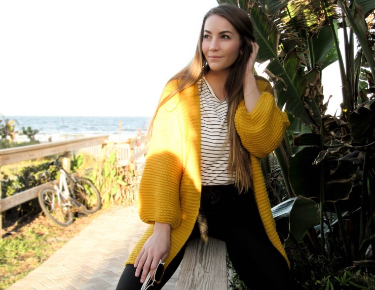 shein_yellow_cardigan_sweater_outfit_pinterest